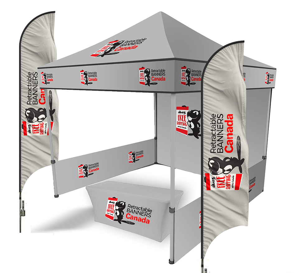 Event kit  tent-flags-table cloth