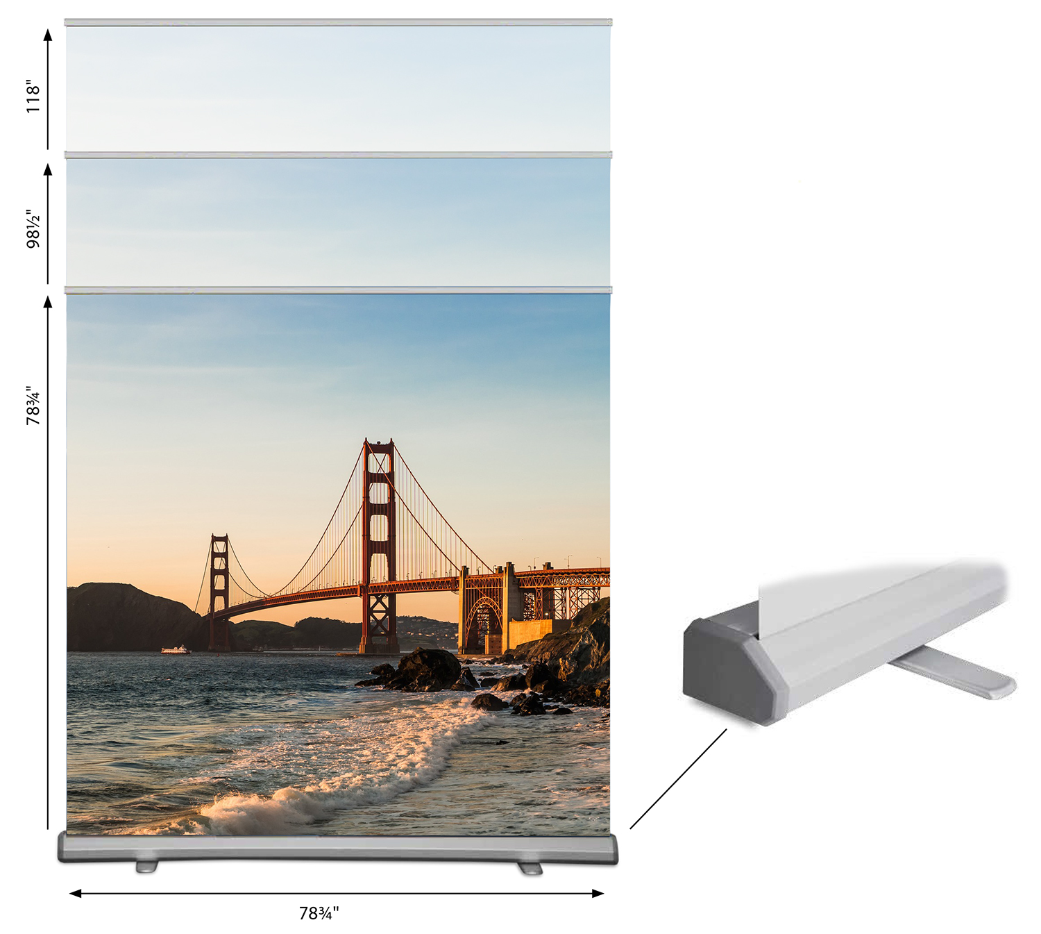 Hemel Large format deluxe rollup banner stand